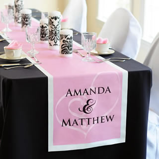 personalized wedding table runner