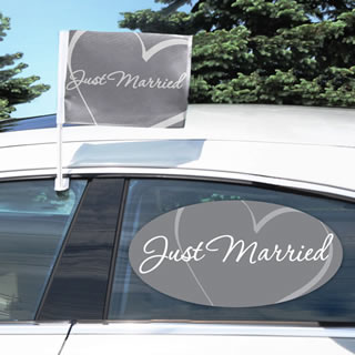 Just Married Car Clings